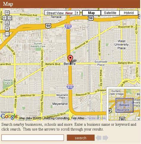 houston map bellaire houston neighborhood maps