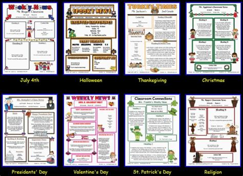 newsletter templates super easy teaching 4th grade