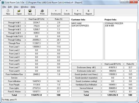 Cold Room Calc Refrigeration Load Calculation Software