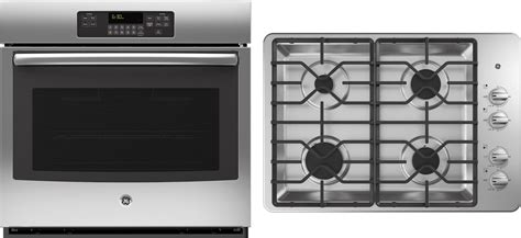 oven cooktop package ge appliance package with 30 quot wall oven 30 quot gas cooktop