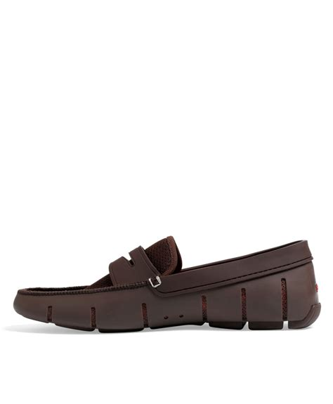 brand loafers lyst brothers swims brand loafers in brown for