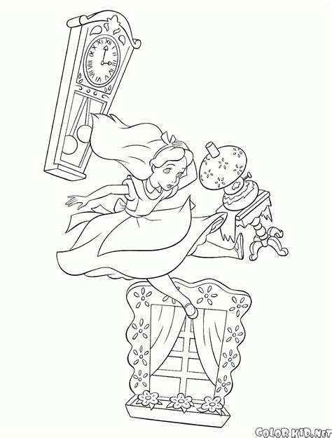 coloring page queen of hearts