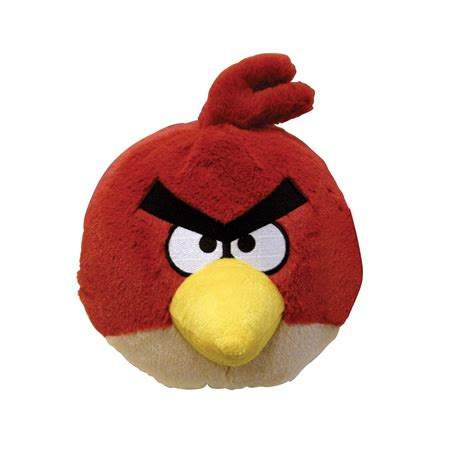 angry birds plush 5 inch red bird with sound new bird toys