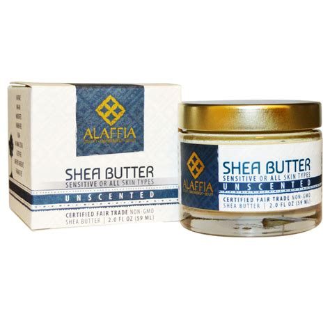 Alaffia Handcrafted Shea Butter Unscented - alaffia shea butter unscented 2 0 fl oz 59 ml iherb