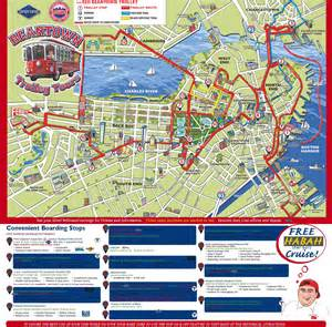 Boston Tram Map by Beantown Trolley With Harbor Cruise Or Mapparium Peanuts