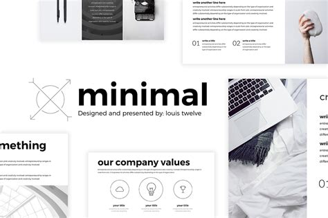 Free Minimal Powerpoint Template On Behance Minimalist Powerpoint Template Free