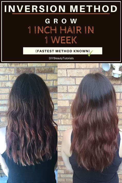 1 inch of hair inversion method grow 1 inch of hair in 1 week fastest