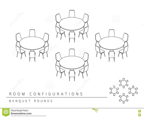 banquet style layout meeting room setup layout configuration banquet rounds
