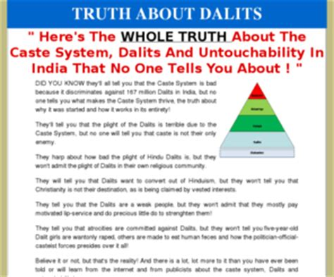 truthaboutdalitscom dalits  india caste system