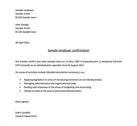Employment Letter In Pdf 18 letter of employment templates free sle exle
