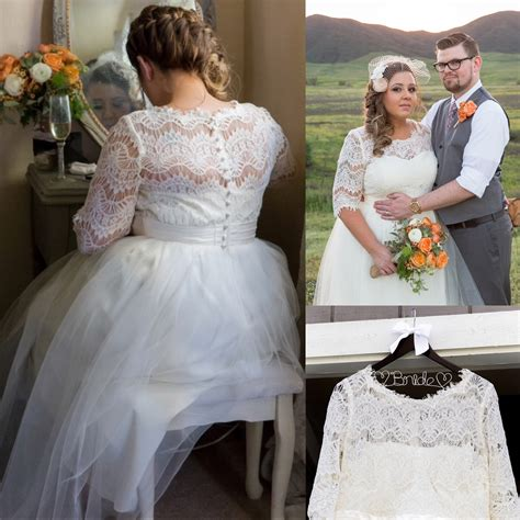 Wedding Gowns Size by Half Sleeves Lace Wedding Dresses Plus Size
