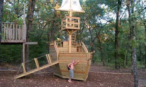 Wooden Pirate Ship Playhouse All