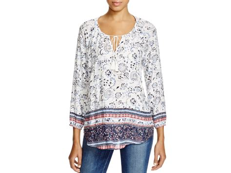 Beachlunchlounge Plus by Lyst Lunch Lounge Paisley Print Tunic Bloomingdale S Exclusive In White