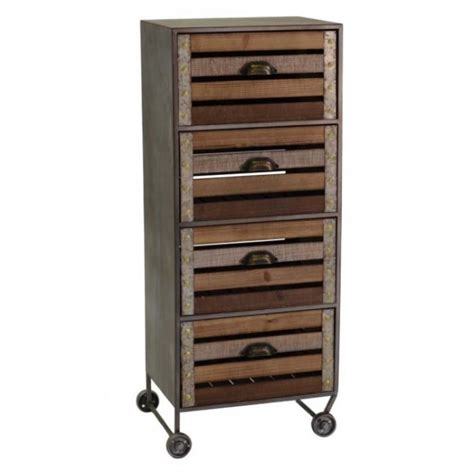 cassettiera cucina cassettiera industriale vintage in legno