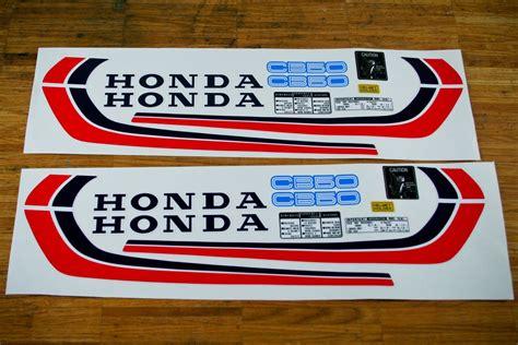Honda Cy 50 Tank Aufkleber by Honda Cb 50 Blau Irace Design