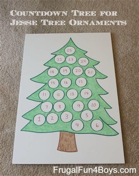 printable christmas tree countdown christmas countdown tree for jesse tree ornaments