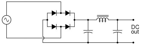 inductor with dc supply rectifier filter circuit discrete semiconductor circuits electronics textbook