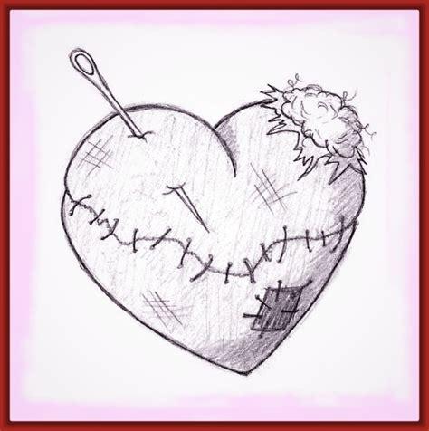 imagenes de corazones destruidos dibujos de corazones rotos imagui