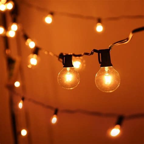 g40 string lights 25ft globe string lights with 25 g40 bulbs vintage patio
