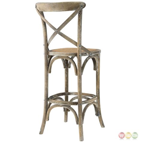 Rattan Seat Bar Stools by Gear Modern Country Inspired Bar Stool W Rattan Seat