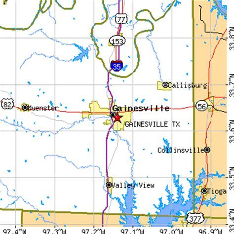 gainesville texas map gainesville texas tx population data races housing economy