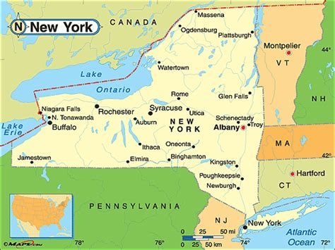map of state of new york purchase this as a poster