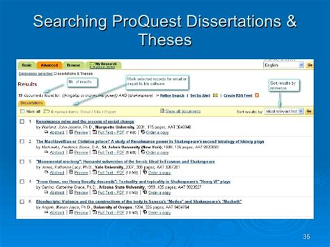 proquest dissertations theses text searching and information resources for literature