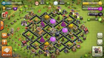 Th8 hybrid base great for war and protecting your ressources at the