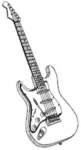 electric guitar coloring page electric guitar bw instruments guitar electric