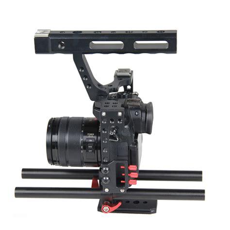 rig stabilizer kamera dslr sony a7s a7 a7r a7rii a7sii panasonic gh4 black jakartanotebook