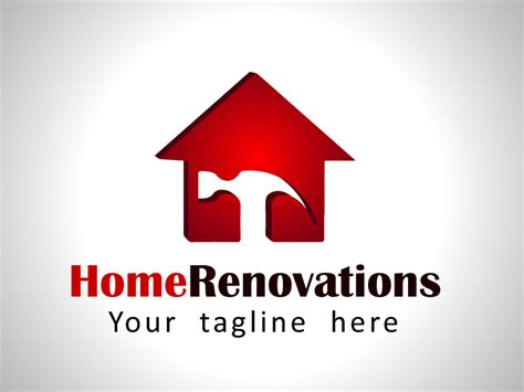home renovation logo template rainbowlogos