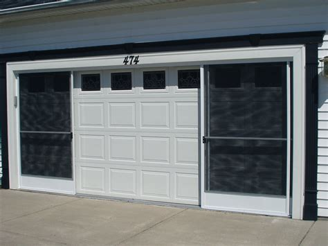 Screen Doors For Garage Opening The Garage Screen Door Manually Home Design By Larizza