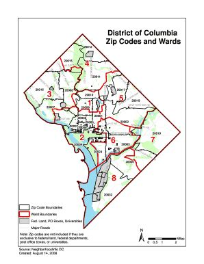 washington dc map of wards dc wards map my