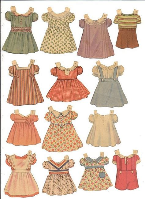 How To Make Paper Doll Dresses - paper doll dresses vintage clip paper