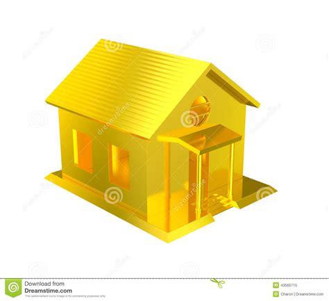 golden house luxury golden house isolated stock illustration image 43565715