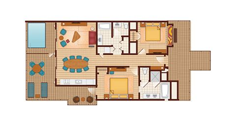 disney world floor plans disney s polynesian villas and bungalows guide