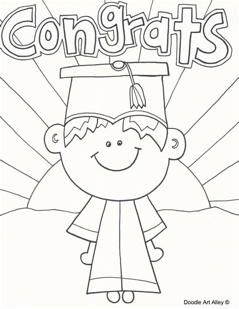 coloring page graduation graduation coloring pages doodle alley