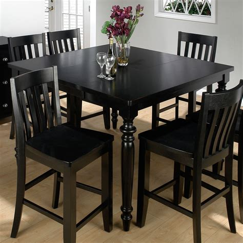 black counter height table jofran barn black counter height table and 6 chairs at