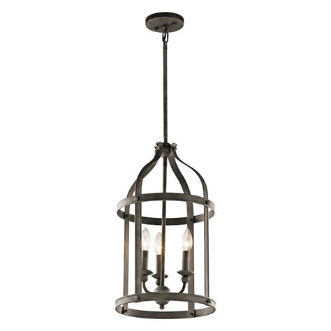 Cottage Pendant Lighting Shop Kichler Steeplechase 13 In Olde Bronze Country Cottage Hardwired Single Cage Pendant At