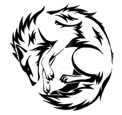 old tribal tattoos circle wolf by captainmorwen on devaintart tribal