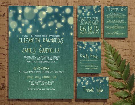 wedding invitation rsvp date rustic garden light wedding invitation set suite invites