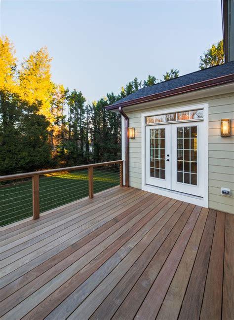 modern decks modern deck cable railing sharpe