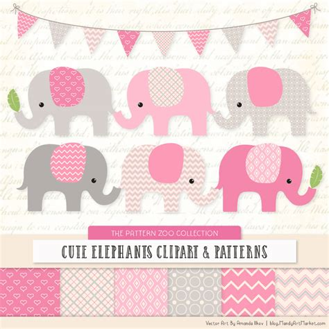 pink elephant pattern pink patterned elephant clipart and patterns