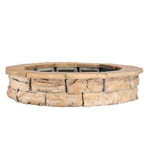 44 In Fossill Brown Round Fire Pit Kit Fsfpb The Home Depot Pit Kit
