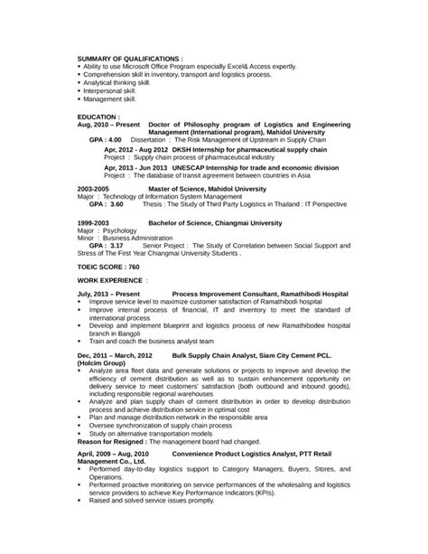 Transportation Consultant Cover Letter by Basic Logistics Analyst Cover Letter Sles And Templates Logistics Analyst Cover Letter The