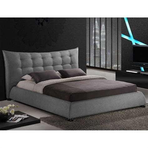 gray platform bed marguerite platform bed in gray bbt6323 grey xx