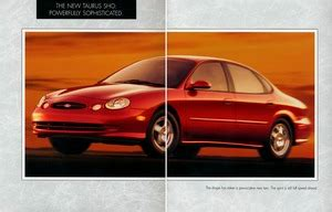 car manuals free online 1996 ford taurus security system 1996 ford taurus sho brochure