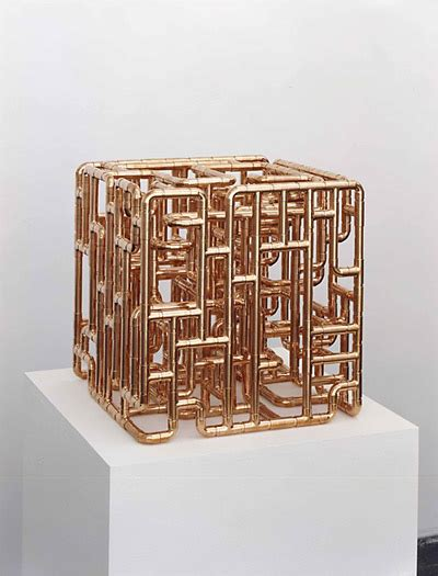 copper pipe art beautiful cube sculpture from copper pipe fittings