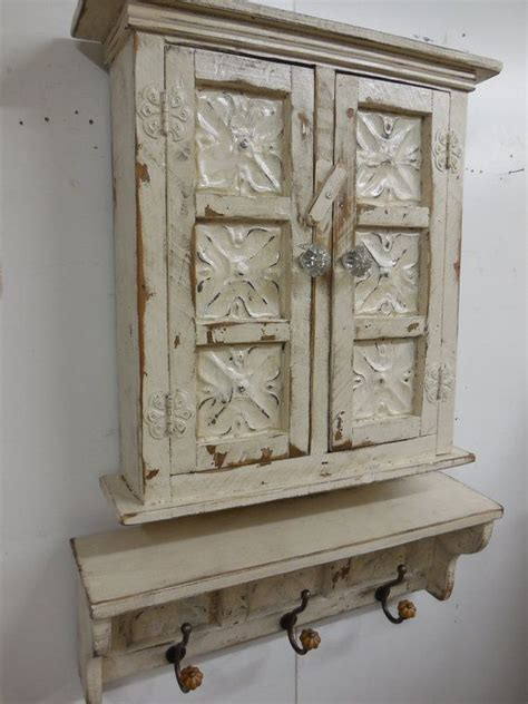 small primitive wall cabinet country wall shelf