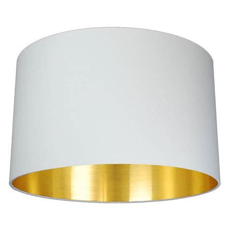 Gold Lined L Shade brushed gold lined l shade choice of colours by quirk